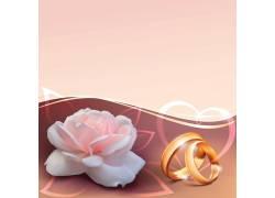 鲜花戒指背景