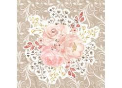 鲜花图案纹理背景