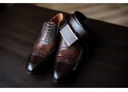 男士商务皮鞋腰带