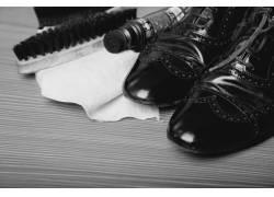 皮鞋鞋刷鞋油