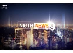 城市夜景科技感背景图片