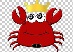 圣诞岛红蟹绘图,蟹PNG剪贴画动物,国王,帽子,卡通,虚构人物,免版图片