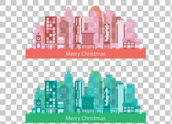 圣诞节城市例证PNG clipart建筑,文本,圣诞节装饰,天际线,洋红色,图片