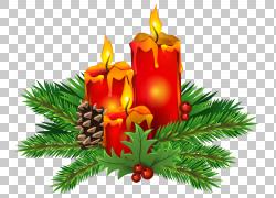 圣诞节蜡烛,圣诞节蜡烛,红色和橙色蜡烛例证PNG clipart剪贴画,圣图片
