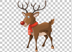 圣诞节装饰品,圣诞节PNG clipart水彩画,鹿茸,哺乳动物,假期,脊椎图片