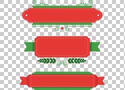 圣诞节圣诞老人节礼日,圣诞主题标题框,红色和绿色图形面板插图PN