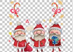 圣诞老人圣诞节插图,可爱的卡通圣诞圣诞老人PNG剪贴画卡通人物,图片