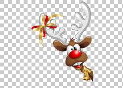 圣诞老人圣诞节幽默,圣诞节驯鹿,驯鹿例证PNG clipart鹿茸,哺乳动图片