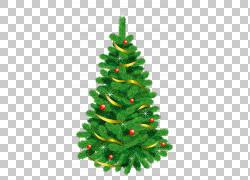 圣诞树,透明绿色装饰圣诞树,绿色圣诞树例证PNG clipart装潢,圣诞图片